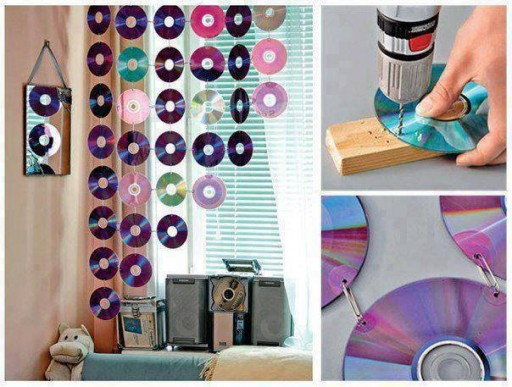 How to make beautiful curtains with used CDs step by step DIY tutorial instructions