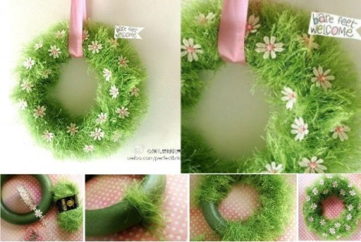 How To Make Beautiful Front Door Welcome Wreath Step By Step Diy