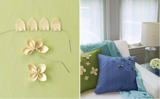 Diy Throw Pillow Instructions : How to make beautiful pillow decoration flowers step by step DIY tutorial instructions ? How To ...