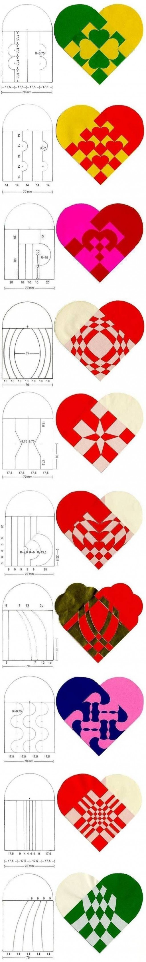 How to make beautiful simple Heart Pattern designs step by step DIY tutorial instructions
