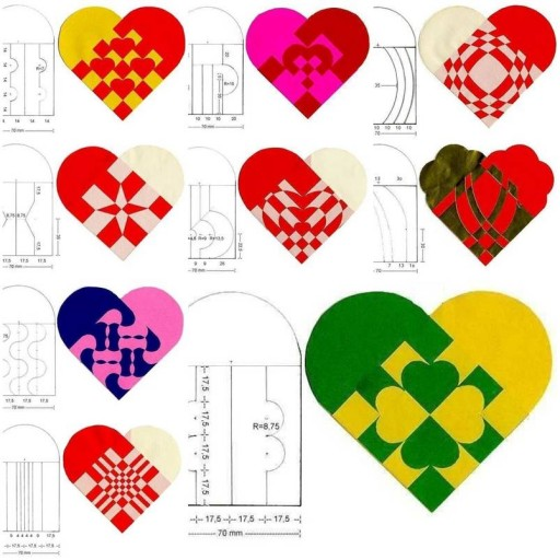 How to make beautiful simple Heart Pattern designs step by step DIY tutorial instructions thumb