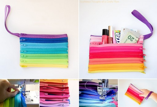 How to make cool zipper bags step by step DIY tutorial instructions