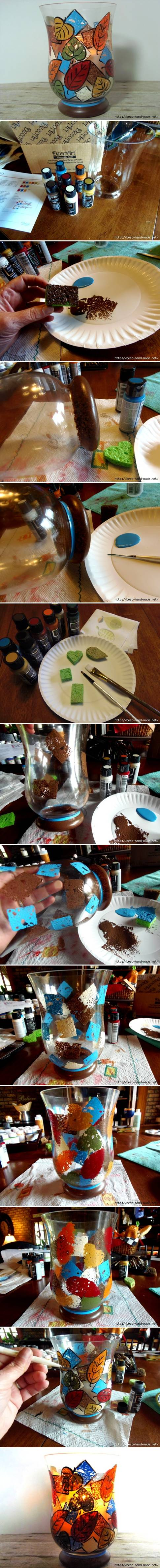 How to make custom Painted Vase step by step DIY tutorial instructions