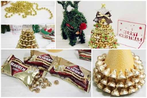 How to make cute Chocolate Christmas tree decorations step by step DIY tutorial instructions thumb