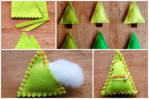 How to make cute Christmas tree clothpin step by step DIY tutorial instructions thumb