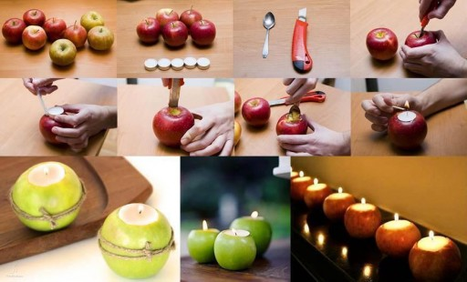 How to make cute apple candle jar step by step DIY tutorial instructions