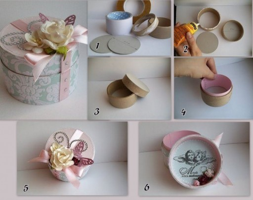 How To Make Cute Round Gift Box Step By Step Diy Tutorial