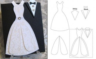 How To Make Cute Wedding Dress Template Step By DIY Tutorial Instructions