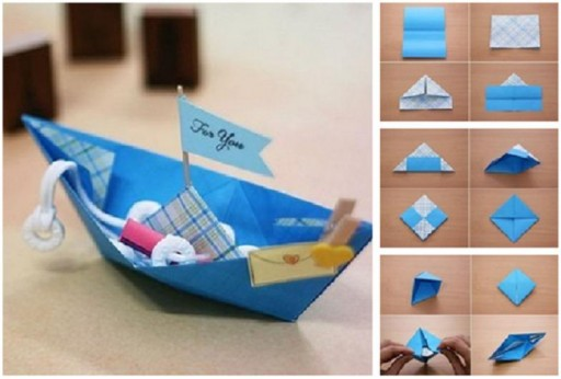 How to make origami boat for you step by step DIY tutorial instructions