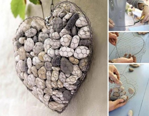 How to make pebble heart interior decorator step by step DIY tutorial instructions