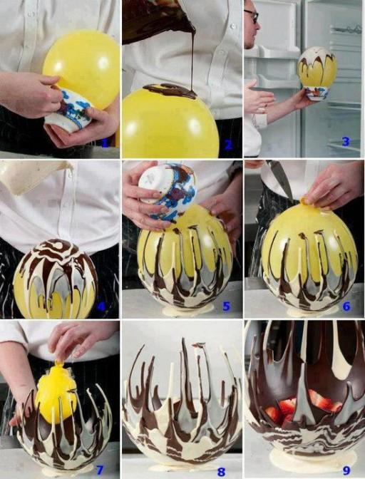 How to make super cool chocolate decoration step by step DIY tutorial instructions