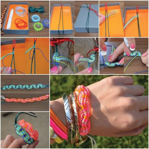 How to make super cute bracelets step by step DIY tutorial instructions