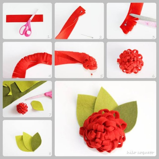 How to make super cute flower decoration step by step DIY tutorial instructions