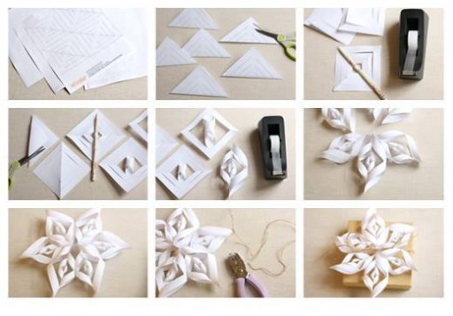 How to make super pretty origami paper craft flowers step by step DIY tutorial instructions