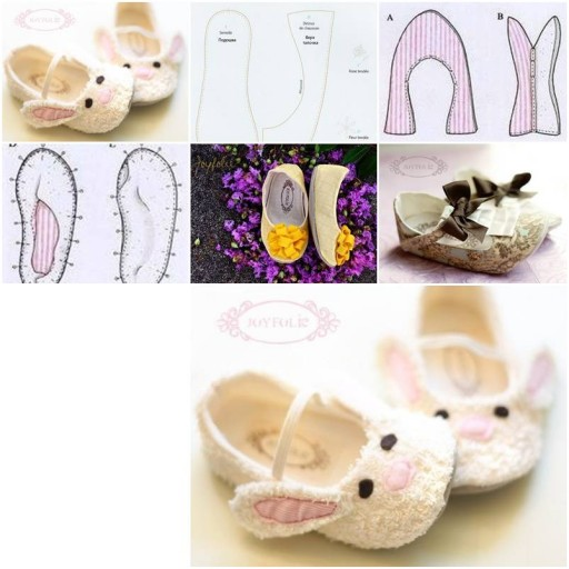 How to sew cute Joyfolie baby Shoes step by step DIY tutorial instructions thumb