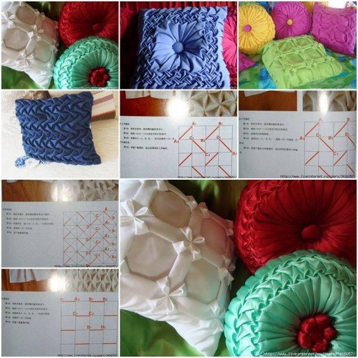 How to sew pretty Down Pillows step by step DIY tutorial instructions thumb