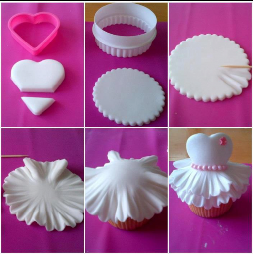 cake decorating classes - How to make super cute cup cake treats step by step DIY tutorial instructions