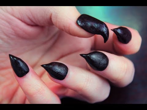 How to do claw nails manicure step by step DIY tutorial instructions