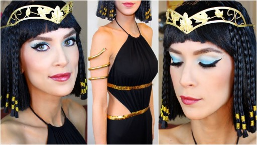 How to do Cleopatra Halloween Costume Makeup step by step DIY tutorial instructions