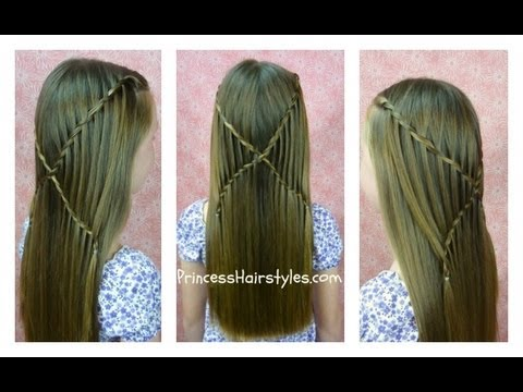 How to do Criss Cross Waterfall Twist Braid Hairstyles step by step DIY tutorial instructions