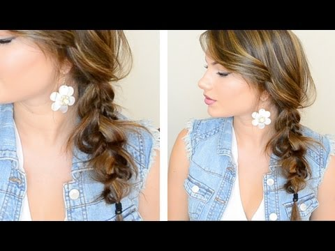 How to do The Messy Side Braid hairstyle step by step DIY tutorial instructions