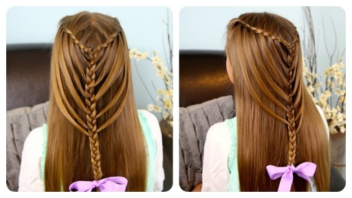 How to do waterfall twists into mermaid braid hairstyles step by step DIY tutorial instructions ...