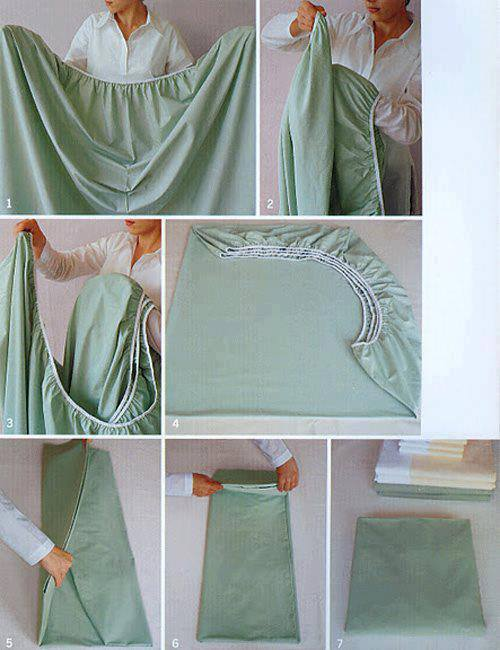 how to fold fitted luxury sheets step by step DIY tutorial instructions