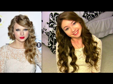 How To Get Taylor Swift's Curls Without Heat step by step DIY tutorial instructions