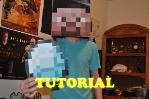 How to make cool real minecraft steve head step by step DIY tutorial instructions