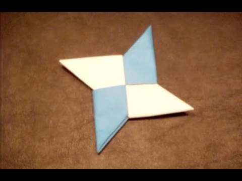 How to make double sided origami ninja stars step by step for How to make a star with paper step by step