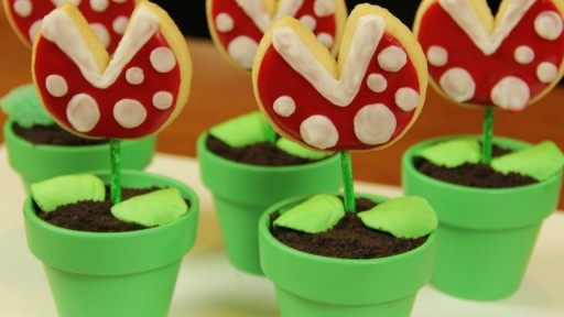 How to make Mario Piranha Cookie Pops step by step DIY tutorial instructions