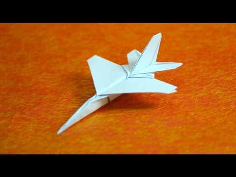 How to make origami F16 jet fighter paper airplanes step by step DIY tutorial instructions