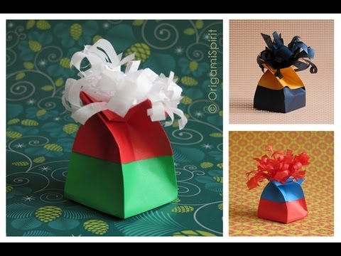 How To make origami twist gift boxes step by step DIY tutorial instructions