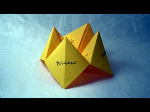 How to make paper craft origami fortune teller step by step DIY tutorial instructions