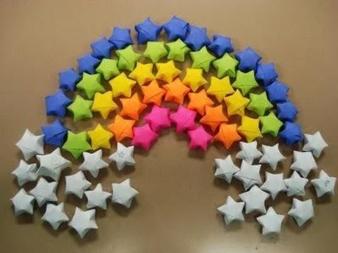 How to make paper craft origami stars step by step DIY tutorial instructions