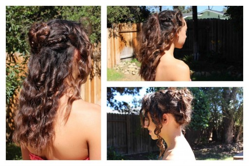 How to make three easy hair styles for homecoming step by step DIY tutorial instructions