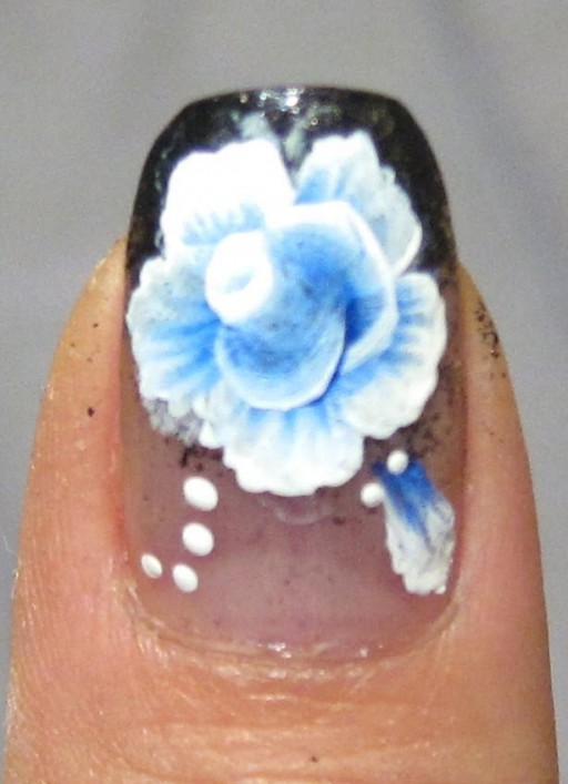 How to paint one stroke beautiful flower nail art step by step DIY tutorial instructions