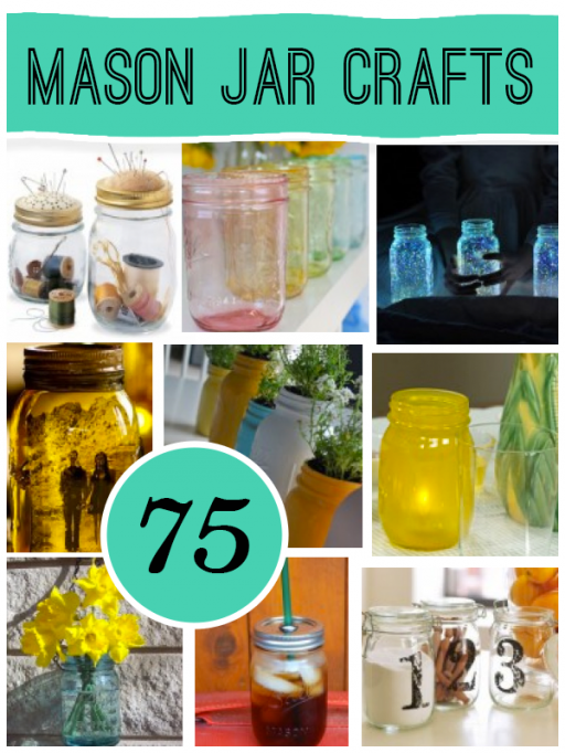 75 ways to make Mason Jar Crafts step by step DIY tutorial instructions