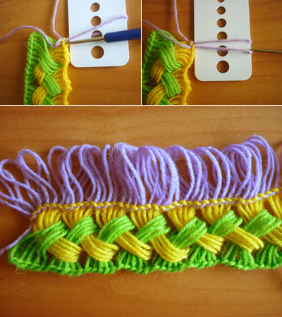 How To Crochet A Scarf Using A Ruler 7