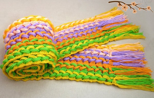 How To Crochet A Scarf Using A Ruler 8