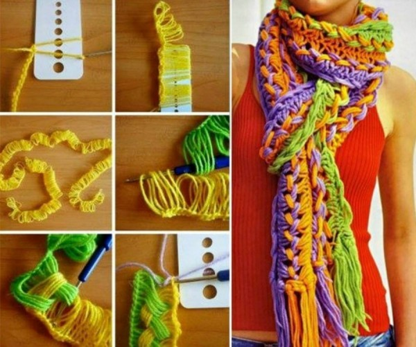How To Knit A Scarf Using A Ruler 1