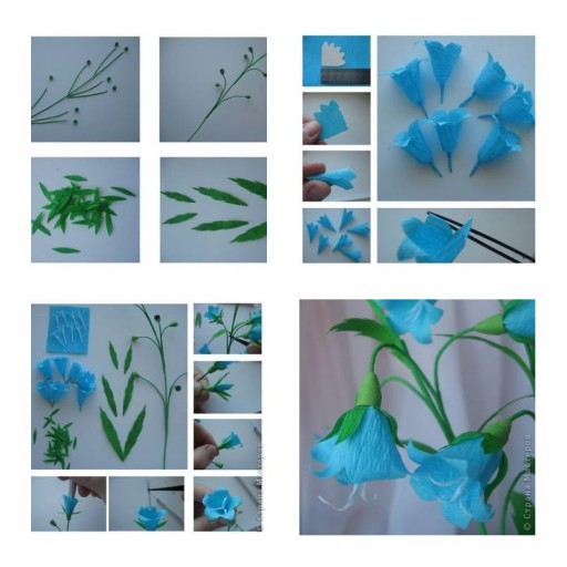How To Make Bluebell Flower step by step DIY tutorial instructions thumb