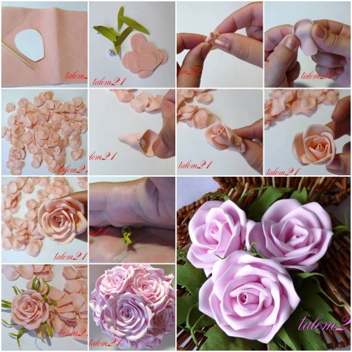 How To Make Fabulous Rose flowers step by step DIY tutorial instructions thumb