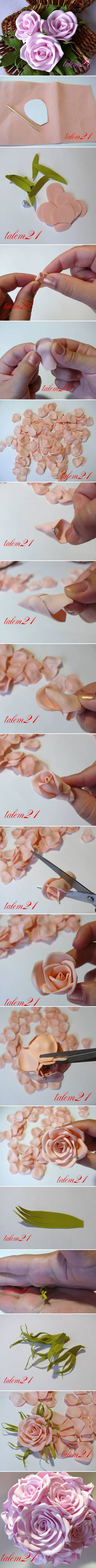 How To Make Fabulous Rose flowers step by step DIY tutorial instructions