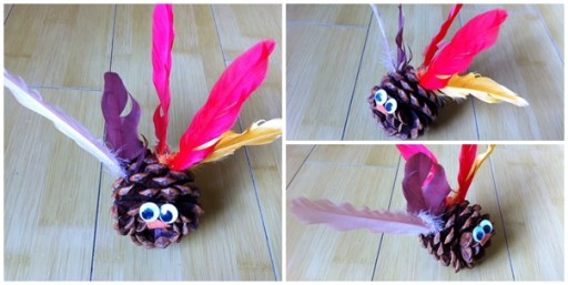 How do you like this cute turkey craft made by a four year old girl