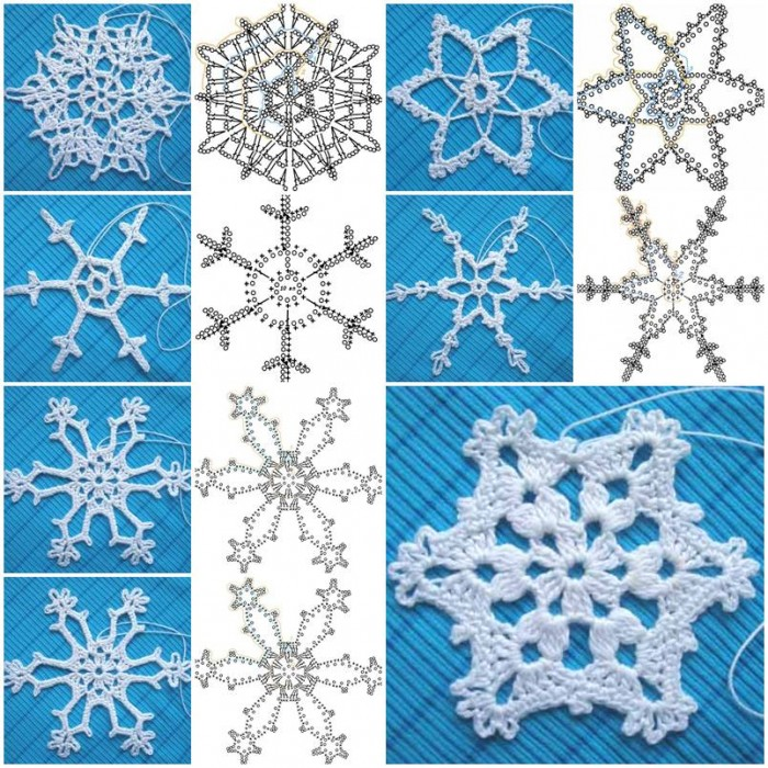 How to crochet Snowflakes Pattern step by step DIY ...