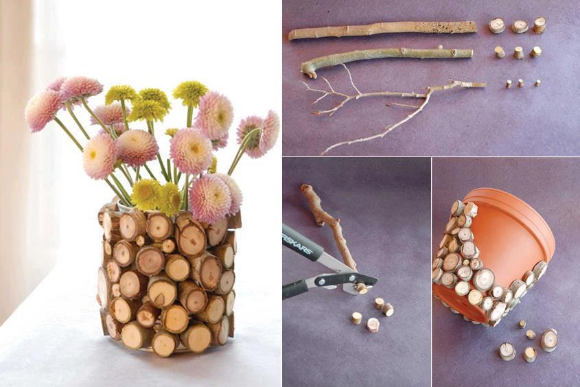 Как украсить горшочек для цветов своими руками