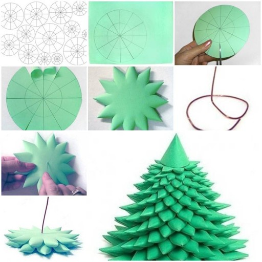 How to make 3D Christmas Tree step by step DIY tutorial instructions thumb