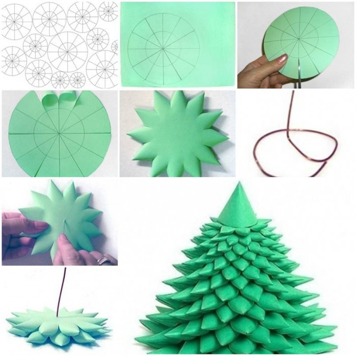 How to make 3d christmas tree step by step diy tutorial for Do it yourself christmas tree decorations
