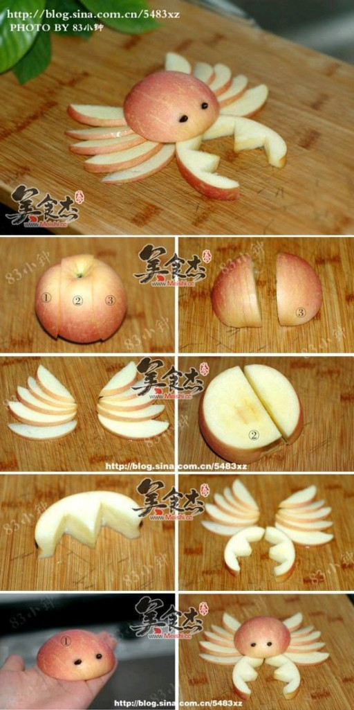 How to make Apple Crab step by step DIY tutorial instructions